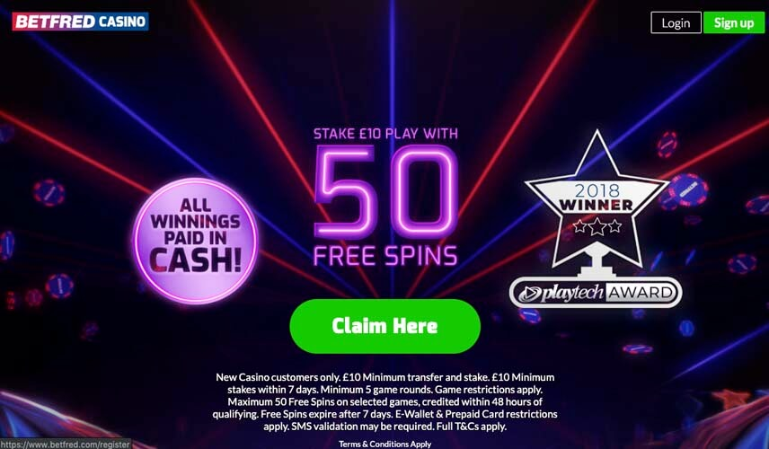 casinoveteran betfred casino bonus