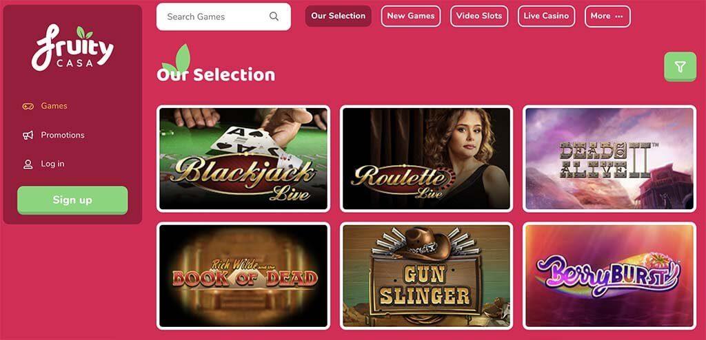 fruity casa casino website