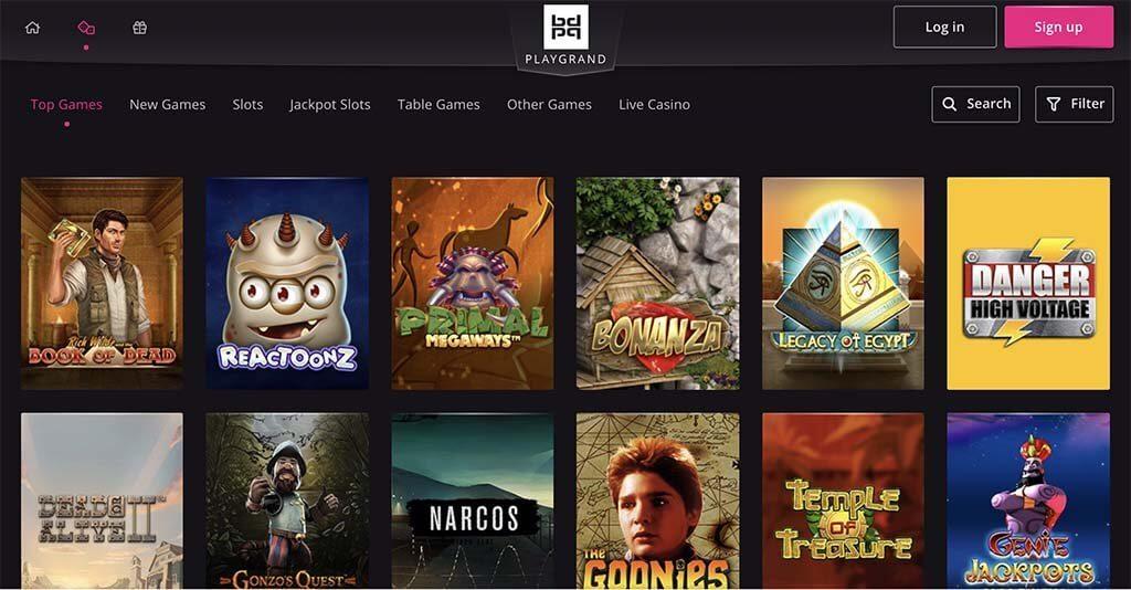 playgrand casino website