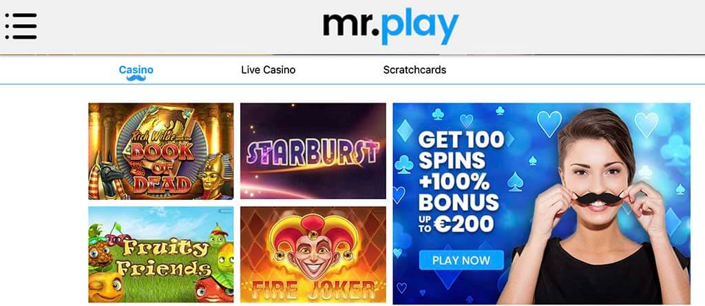 mrplay website