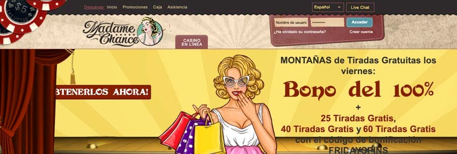 casinoveteran madamechance bonus es