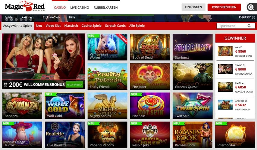 casinoveteran magicred casino