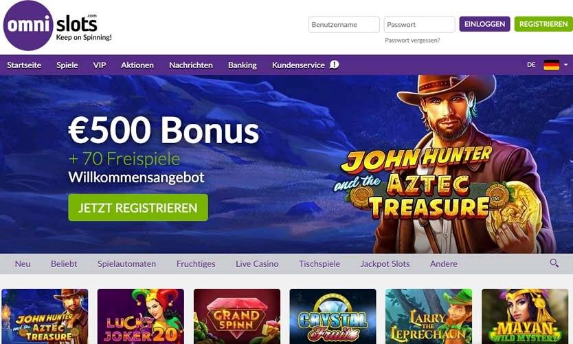 casinoveteran omnislots casino bonus