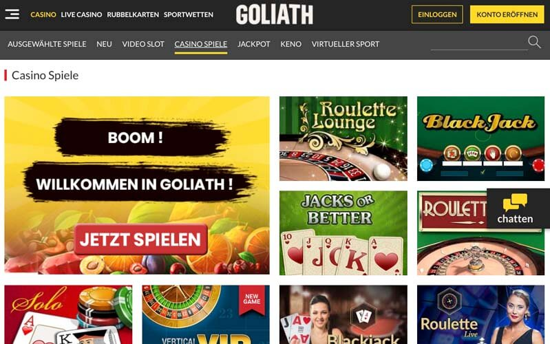 casinoveteran goliath casino