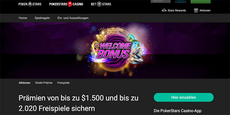 Pokerstars Casino Bonus 2017