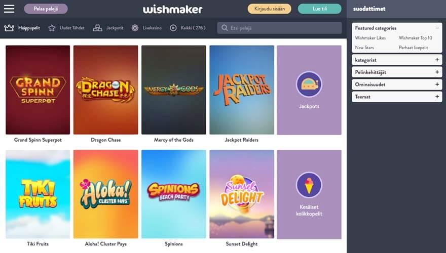 casinoveteran wishmaker casino fi
